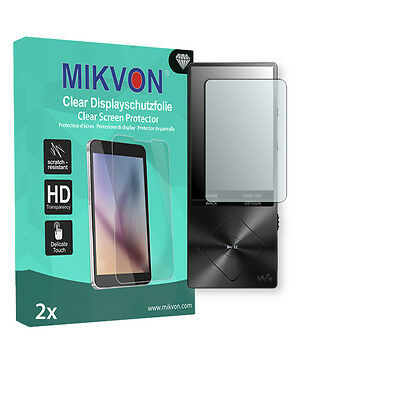 2x Mikvon Clear Screen Protector for Sony NWZ-A15 Retail Package + accessories