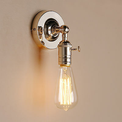 Vintage Industrial Lampholder Sconce Antique  Wall Light Edison Loft Flushmount