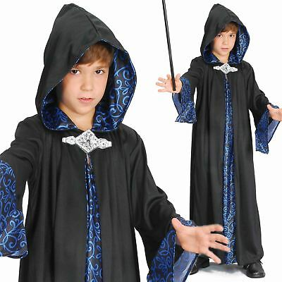 Boys Child's Kids Wizard Robe Fancy Dress Costume Halloween Book Week Outfit