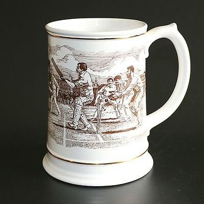 "Franklin Porcelain ""The Ashes"" Large Centenary Commemorative Tankard 1882-1982"
