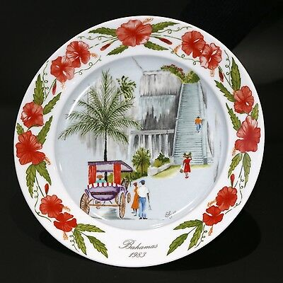 "Kaiser Porcelain Elyse Wasile Bahamas Plate ""Queen'S Staircase"" 2Nd Ltd Ed.4876"