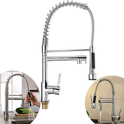 WATERMARK WELS Pull out Kitchen Basin Sink Mixer Brass Water Tap Chrome Faucet