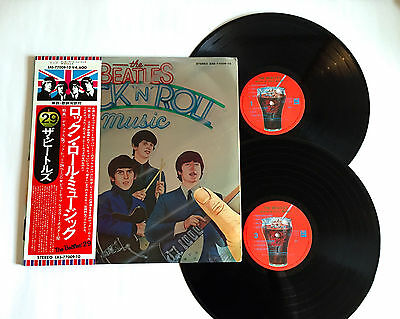 THE BEATLES Rock 'n' Roll Music JAPAN PRESS VINYL 2LP RECORD EAS-77009/10 w/OBI