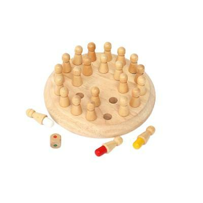 Classic Wooden Color Memory Chess Puzzle Intelligence Game Kids Toy Gift