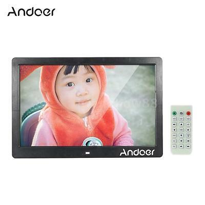 "Andoer 13"" HD LED Cornici digitali Digital Photo Frame MP3 MP4 Alarm Clock G4V1"