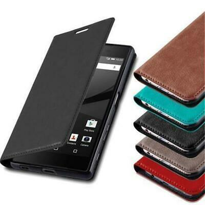 BOOK Style Cover CASE with invisible Magnet for SONY XPERIA Flip Wallet Card