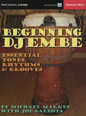 Beginning Djembe Tones Rhythms Grooves Music Book & Audio Method Learn To Play