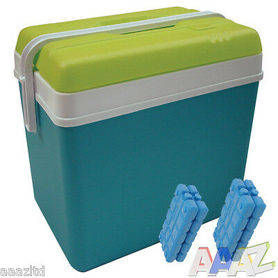 Large 24L Cooler Box Camping Beach Picnic Food Ice Insulated Coolbox Travel Pack