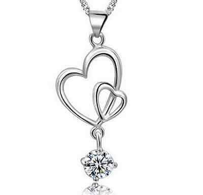 Heart World 925 Sterling Silver Jewellery Pendant Necklace Chain Womens gifts UK