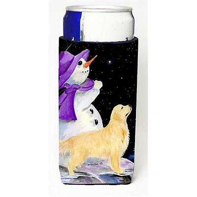 Snowman With Golden Retriever Michelob Ultra s For Slim Cans 12 oz.