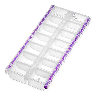 "Craft Mates Clear Bead Storage Box 14 Compartment 11"" Locking Caddy (H12/2)"