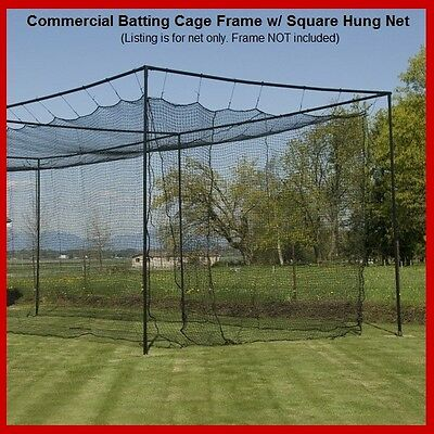12' x 12' x 55' #24 (42 ply) Baseball Softball Batting Cage Net w/Door