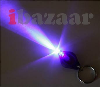 Ultra Violet UV LED Key Ring Torch Photon Keyring Light