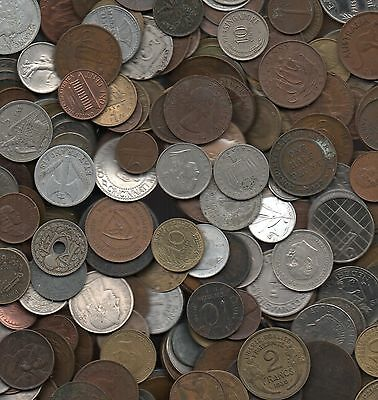 100 Assorted Metals & Countries Coins
