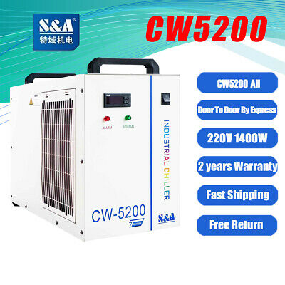 Industrial Water Chiller Cool 8KW Spindle CNC Tube CW-5200AH 220V 50HZ