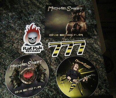 Michael Sweet One Sided War autographed cd plus picks sticker and more (stryper)
