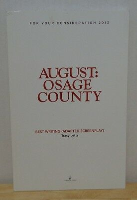 August: Osage County FYC For Your Consideration Oscar Promo Screenplay Script