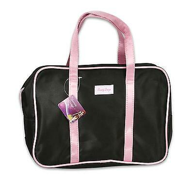 Large Satin Travel Cosmetic Bag with Handles