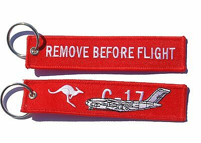 RAAF C-17 Remove Before Flight Key Ring Luggage Tag