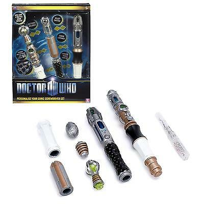 NEW Doctor Who Sonic Screwdriver Set Personalize w/80 Combos Light Sound CHOP