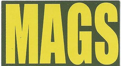 "Vinyl Ammo Can Magnet label ""MAGS"" Bold"