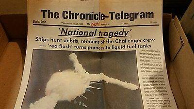 JAN. 29 1986 Newspaper Topic Challenger Tragedy Nasa Space Exploration