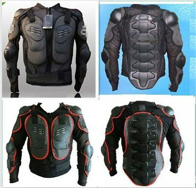 Unisex New Motorcycle Mountain Bike Armor Body Chest protection S-3XL Red Black