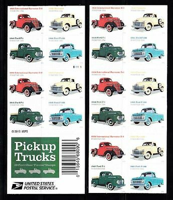 Classic Us Pickup Trucks Booklet Ford/ih/chevy 1938-1965 Mnh