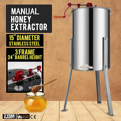 Stainless Steel Honey Extractor 3 Frames Honey Spinner Bee Honeycombs