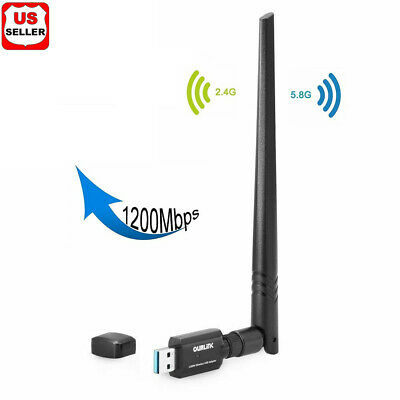 Dual Band High-Gain Antenna 802.11ac 1200Mbps USB3.0 AC1200 USB wifi Adapter