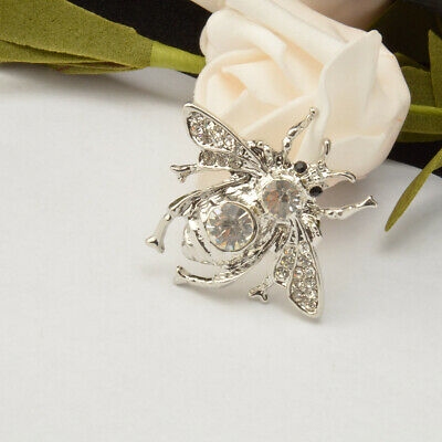 Fashion Women Men Brooch Pin Crystal Honey Bee Brooch Pin Insects Brooch Jewelry