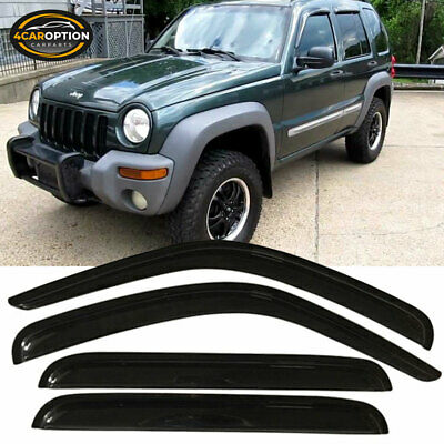 For 02-07 Jeep Liberty Acrylic Window Visors 4Pc Set