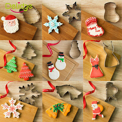 New Christmas Stainless Steel Biscuit Pastry Cookie Cutter Cake Decor Mold Tool