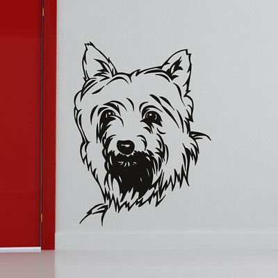 Scottie Dog Wall Sticker Animals Pets Wall Decal Kids Kitchen Home Decor