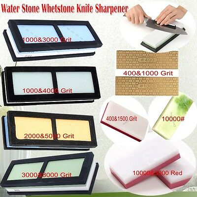 Water Stone Whetstone Knife Sharpener Sharpening Flattening 8 Styles AU STOCK