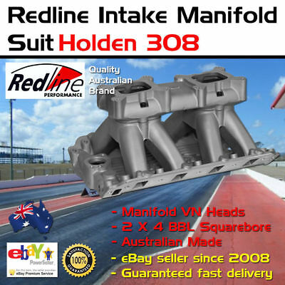 New Intake Inlet Manifold Twin Carb Tunnel Ram suit VN Head Holden V8
