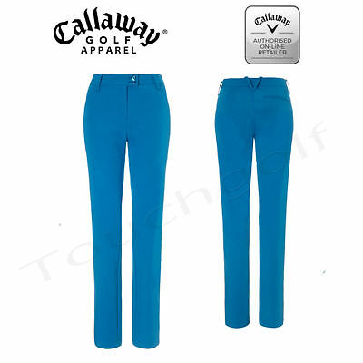 Callaway Women/Ladies Solid Flat Fronted Golf Trousers-CGBS5057-Mykonos Blue-New