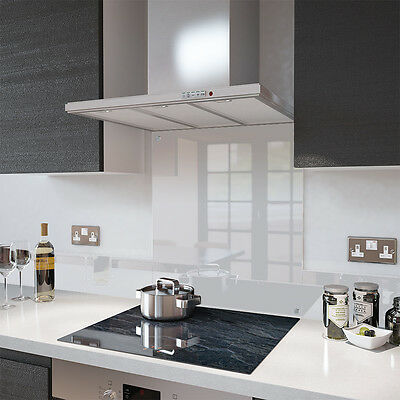 Premier Range Clear Toughened Glass Heat Resistant Splashback with Fixing Holes