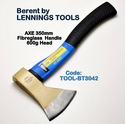 BERENT- AXE - 600g HEAD - FIBREGLASS HANDLE - 1pc   (TOOL-BT3042)