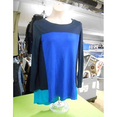 Maternity Long Sleeve Colorblock Top, Navy/Blue/Teal, Xlarge Introspect