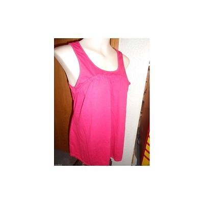 Maternity Braided Scoop Neck Tank, Fuchsia, Xlarge Introspect