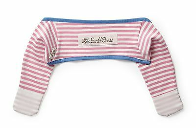ScratchSleeves | Stay on Scratch mitts | Imperfects | Pink stripes | 3-6m
