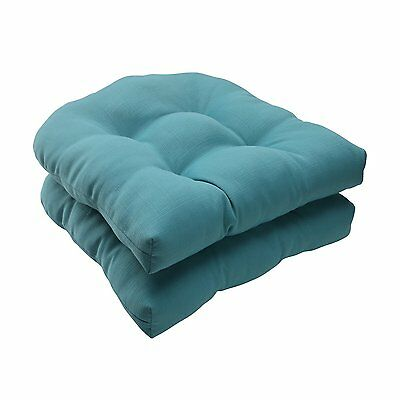 Pillow Perfect 507088 Forsyth Wicker Seat Cushion (Set of 2)