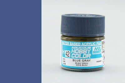 MR HOBBY GUNZE AQUEOUS COLOR ACRYLIC H42 BLUE GRAY OLD MODEL PAINT 10ml US