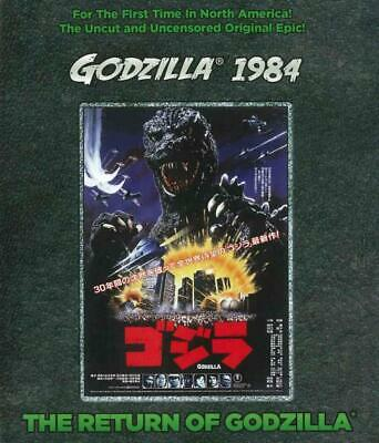 Godzilla 1985: The Legend Is Reborn New Region 1 Blu-Ray