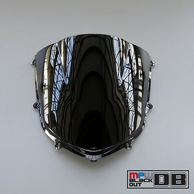 Double Bubble Racing Windscreen Screen Black Kawasaki ZX-10R Ninja 04-05