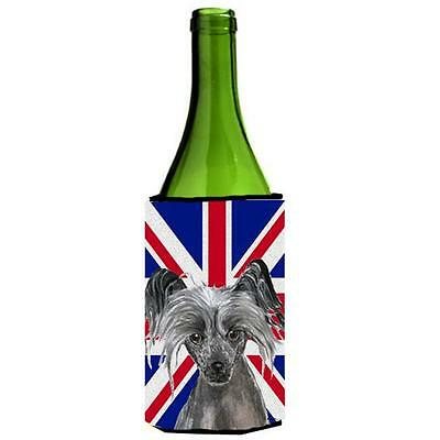 Chinese Crested With English Union Jack British Flag Wine bottle sleeve Hugge...