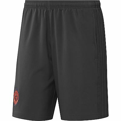 adidas Mens Gents Football Manchester United Cup Training Woven Shorts - Black