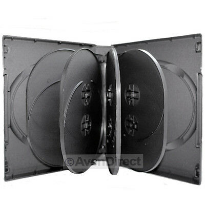 1 Pack Black DVD Case Hold 10 Discs With Tray 33mm [FAST FREE SHIPPING]
