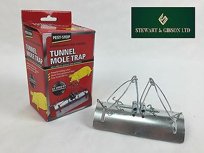 New Pest-Stop Tunnel Barrel Type Mole Trap Rodent Killer Control